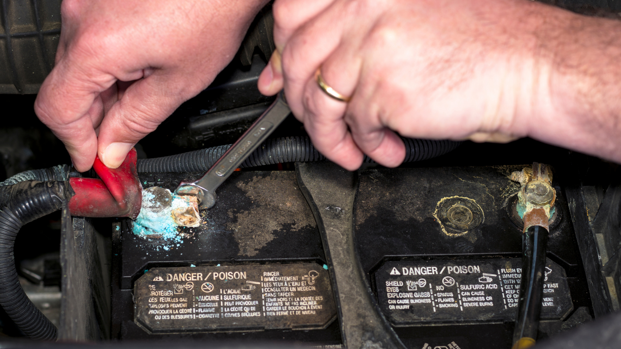 cleaning off battery terminals